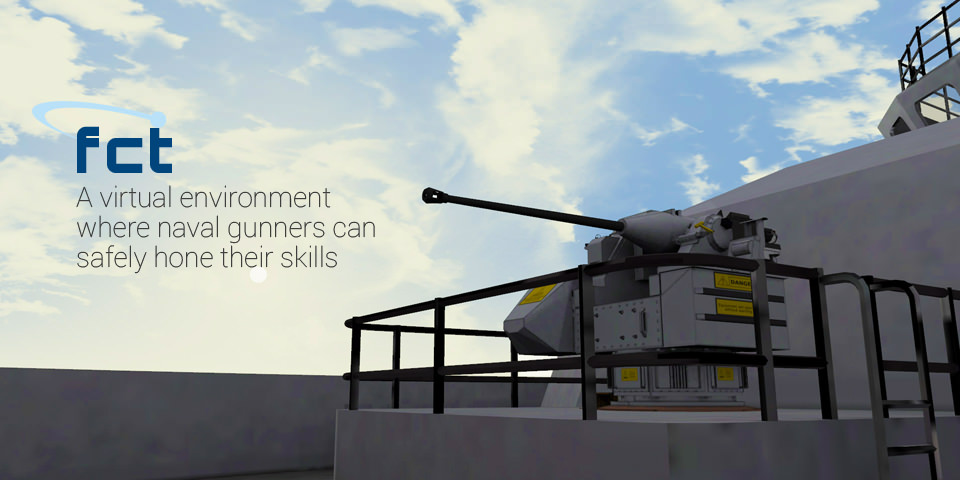 A virtual environment where naval gunners can safely hone their skills