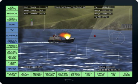 Screenshot of FCT showing a fishing boat being hit
